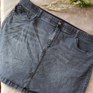 C.J. Banks premier denim skirt. Size 22W